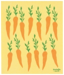 Carrots Print Design Ecologie Swedish Sponge Towel 11.75 Inch x 10 Inch from Now Designs