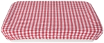 Red & White Gingham Print Cotton Baking Dish Cover from Now Designs
