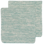 Lagoon Blue Heirloom Cotton Knit Dishcloths Set of 2 from Now Designs