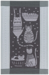 Cat Lover Purr Party Jacquard Cotton Dish Towel 28x18 from Now Designs