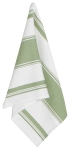 Sage Green & White Striped Cotton Dish Towel 28x18 from Now Designs
