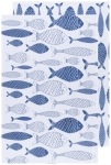 Royal Blue Fish Print Design Cotton Floursack Dish Towel Set of 2 (31.5 Inch x 20 Inch) from Now Designs