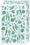 Greenbriar Green Kitchen Veggies Cotton Floursack Dish Towel Set of 2 from Now Designs