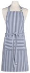 Royal Blue & White Narrow Stripe Cotton Kitchen Chef Apron from Now Designs