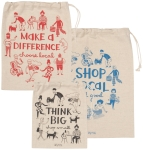 Set of 3 Shop Local Cotton Market Shopping Tote Bags from Now Designs