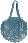 Blue French Inspired Le Marché Cotton Net Grocery Shopping Bag from Now Designs
