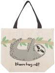 Sloth Design Wanna Hang Out Cotton Tote Bag from Now Designs