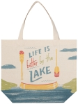 Canoe Themed Life Is Better By The Lake Cotton Tote Bag from Now Designs