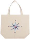 Compass Design Cotton Tote Bag from Now Designs