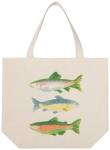 Gone Fishin Fish Print Design Cotton Tote Bag from Now Designs
