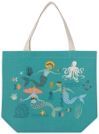 Mermaids & Sealife Design Cotton Tote Bag from Now Designs