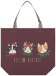 Cat Lover Feline Festive Cotton Tote Bag Tote Bag from Now Designs