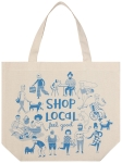 Blue & Cream Shop Local Cotton Tote Bag from Now Designs