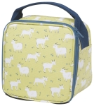 Goat Print Design Cotton Canvas Insulated Lunch Bag from Now Designs
