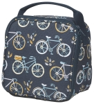 Sweet Ride Bicycle Print Design Cotton Canvase Insulated Lunch Bag from Now Designs