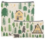 Wild & Free Outdoor Themed Cotton Zippered Food Snack Bags Set of 2 from Now Designs