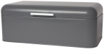 Charcoal Gray Coated Steel Bread Bin Container from Now Designs