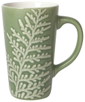 Wintergrove Tall Green Textured Stoneware Coffee Mug 18 Oz from Now Designs