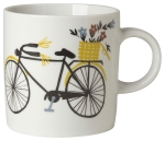 Bicicletta Flower Bicycle Ceramic Coffee Mug 12 Ounce from Now Designs