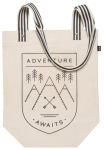 Mountain Themed Adventure Awaits Cotton Tote Bag from Now Designs
