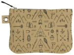 Outdoor Themed Adventure Awaits Large Zipper Pouch Cotton Handbag from Now Designs