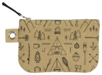 Outdoor Themed Adventure Awaits Small Cotton Zipper Pouch Handbag from Now Designs