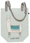 Llama Themed Llamarama Cotton Tote Bag from Now Designs