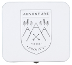 Mountain Design Adventure Awaits Decorative Keepsake Box 7 Inch x 6.25 Inch from Now Designs
