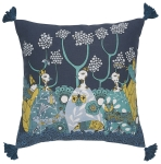 Regal Birds Design Decorative Cotton Throw Pillow Cushion 17x17 from Now Designs
