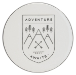 Mountain Design Adventure Awaits Ceramic Coaster Set of 4 from Now Designs