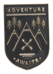 Mountain Design Adventure Awaits Enamel Pin from Now Designs