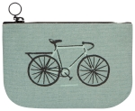 Wild Riders Bicycle Themed Small Cotton Zip Pouch Handbag from Now Designs