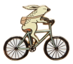 Wild Riders Rabbit on Bicycle Pin from Now Designs