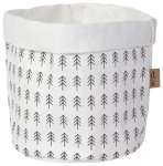 Pine Tree Pattern Print Adventure Awaits Medium Paper Basket from Now Designs