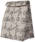 Wild Riders Bicycle Themed Washable Leather Like Paper Lunch Bag from Now Designs