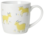 Yellow Goats Print Design Porcelain Coffee Mug 12 Oz from Now Designs