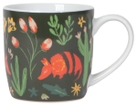 Armadillos & Cactus Design Porcelain Coffee Mug 12 Oz from Now Designs