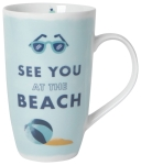 See You At The Beach Stoneware Coffee Mug 20 Oz from Now Designs