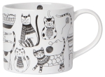 Cat Lover Purr Party Stoneware Coffee Mug in a Box 14 oz from Now Designs