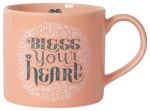 Bless Your Heart Mug Stoneware Coffee Mug in a Box 14 oz from Now Designs