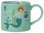 Mermaid & Sealife Stoneware Coffee Mug in a Box 14 oz from Now Designs