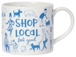 White & Blue Shop Local Stoneware Coffee Mug 12 oz from Now Designs