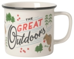 The Great Outdoors Squirrel & Pines Stoneware Coffee Mug 14 oz from Now Designs
