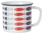Little School Fish Design Stoneware Coffee Mug 14 oz from Now Designs