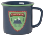 Blue Mountain Themed Explore More Stoneware Coffee Mug 14 oz from Now Designs