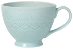 Debossed Pastel Blue Stoneware Coffee Mug from Now Designs