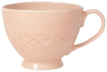 Peach Colored Debossed Stoneware Coffee Mug 16 oz from Now Designs