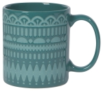 Marina Blue Gala Stoneware Coffee Mug from Now Designs