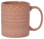 Pink Terracotta Gala Stoneware Coffee Mug from Now Designs