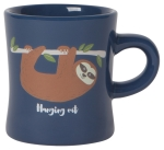 Blue Sloth Design Hanging Out Stoneware Coffee Mug 12 Oz from Now Designs